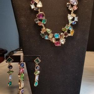 3 piece Multi Color Necklace set